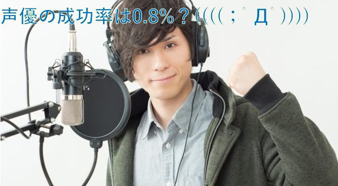 声優で生活できる確率は、0.8%程度か